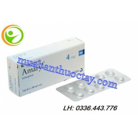 Thuốc Amaryl 4mg hộp 30 viên