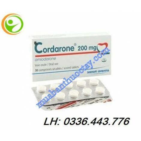 Thuốc Cordarone® 200mg điều trị rối loạn nhịp tim