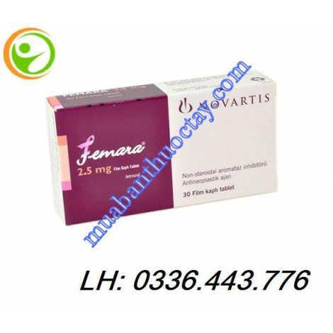 Thuốc Femara 2.5mg điều trị ung thư vú
