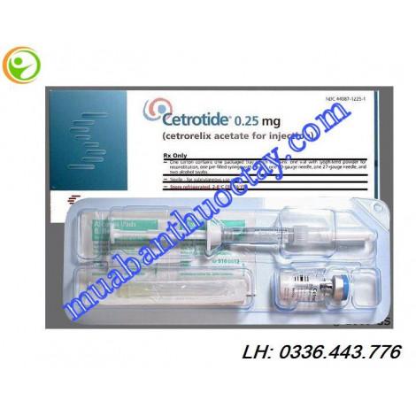 Cetrotide 0,25 mg ngăn ngừa rụng trứng sớm