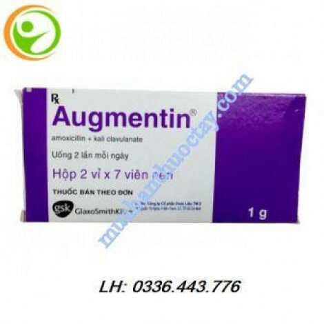 Thuốc Augmentin 1g hộp 14 viên