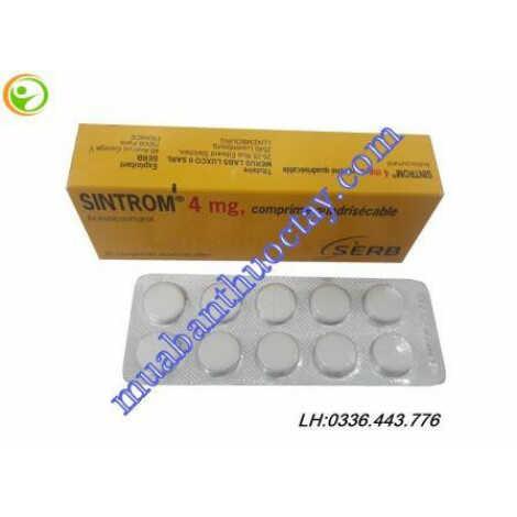 Thuốc chống đông Sintrom 4mg