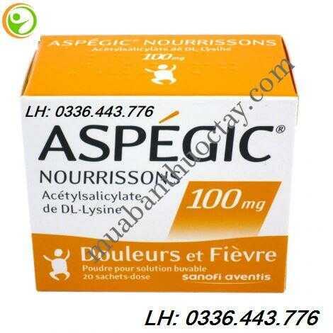 Thuốc hạ sốt Aspegic 100mg