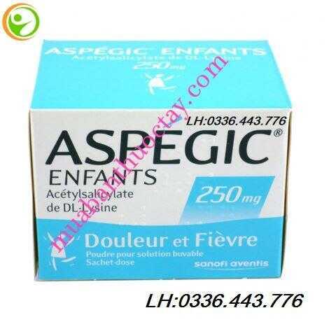 Thuốc hạ sốt Aspegic 250mg