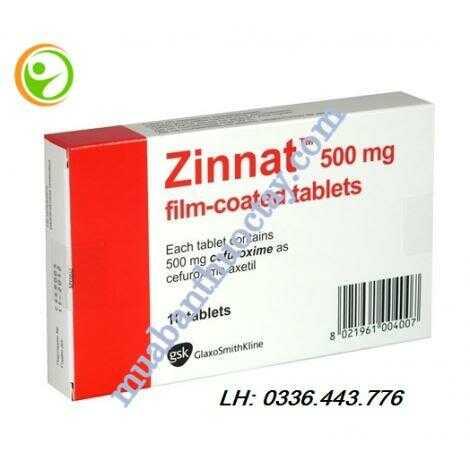 Thuốc kháng sinh Zinnat® 500mg