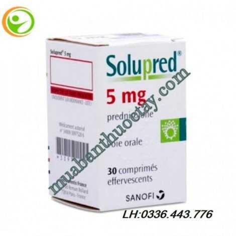 Solupred 5mg là thuốc gì, hướng dẫn sử dụng, giá thuốc mới nhất