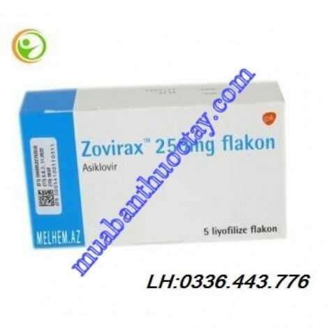 Thuốc kháng viêm Zovirax IV 250 mg