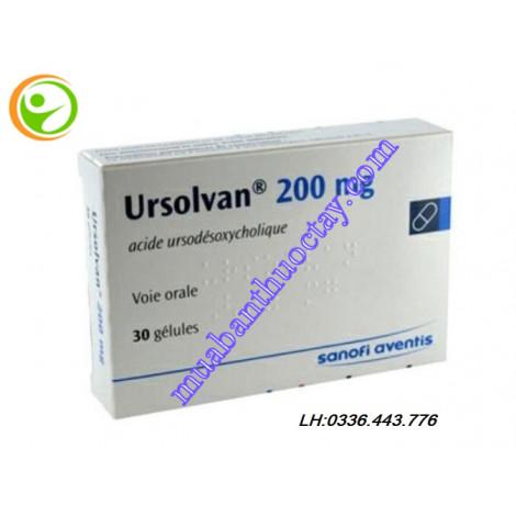Thuốc đặc trị sỏi mật Ursolvan 200mg