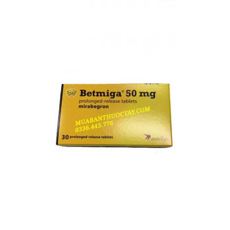 Betmiga 50mg là thuốc gì, thông tin và cách sử dụng