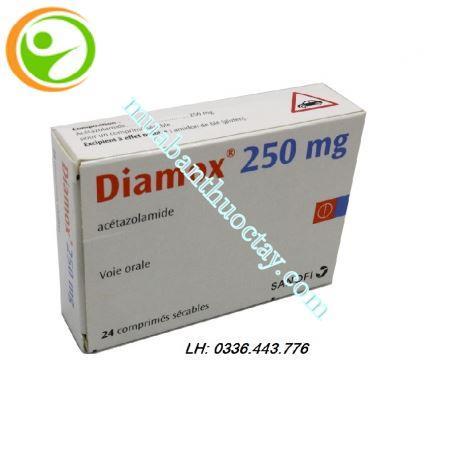 Thuốc tăng nhãn áp Diamox 250mg