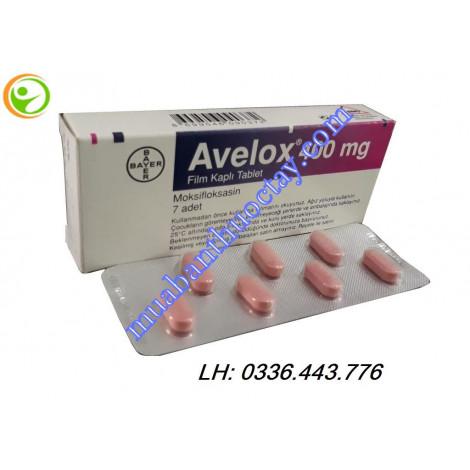 Thuốc kháng khuẩn Avelox 400mg
