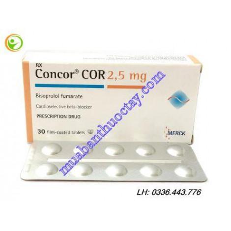 Thuốc trị suy tim Concor COR 2.5m