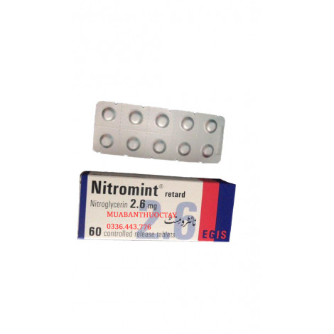 Nitromint 2.6mg thuốc trị đau thắt lồng ngực