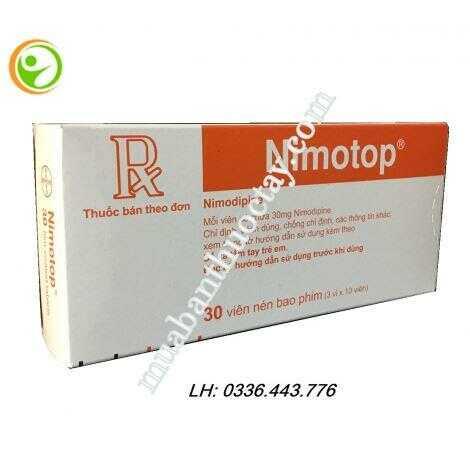 Nimotop ( nimodipin ) là thuốc gì, giá bao nhiêu, hướng dẫn sử dụng