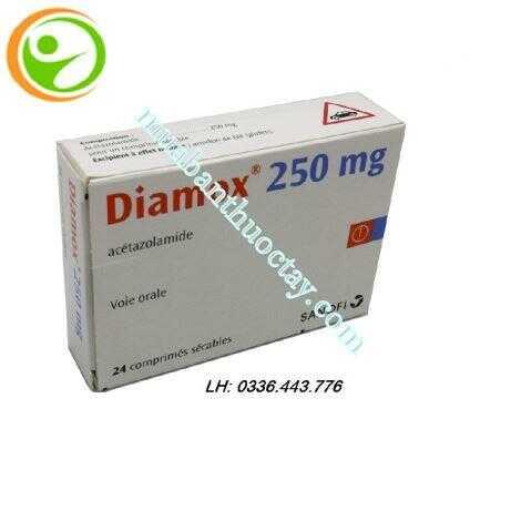 Thuốc tăng nhãn áp Diamox® 250mg