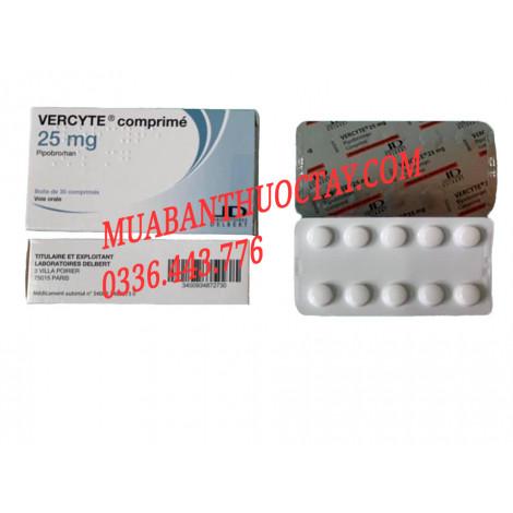 Vercyte 25mg thuốc điều trị bệnh đa hồng cầu